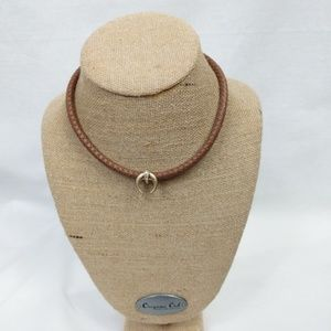 Jewelry - Brown Rope Crescent Moon Bull Horn Necklace